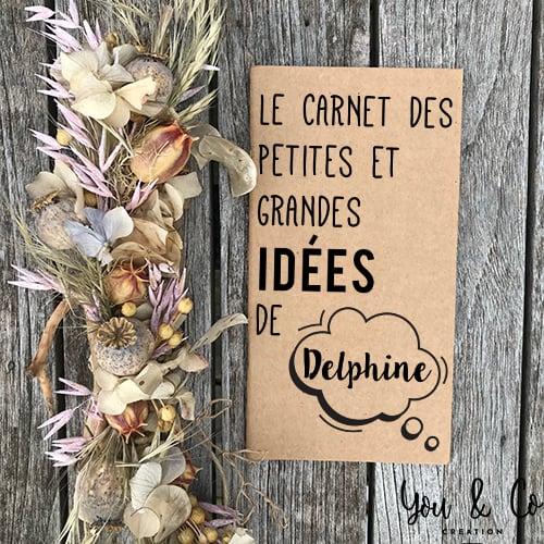 """Image of Carnet """"petites et grandes idées"""" personnalisable"""