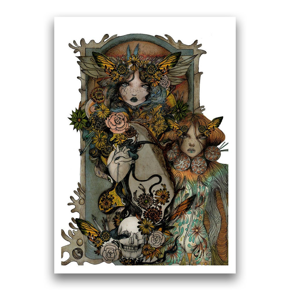 Image of Fairy gathering print