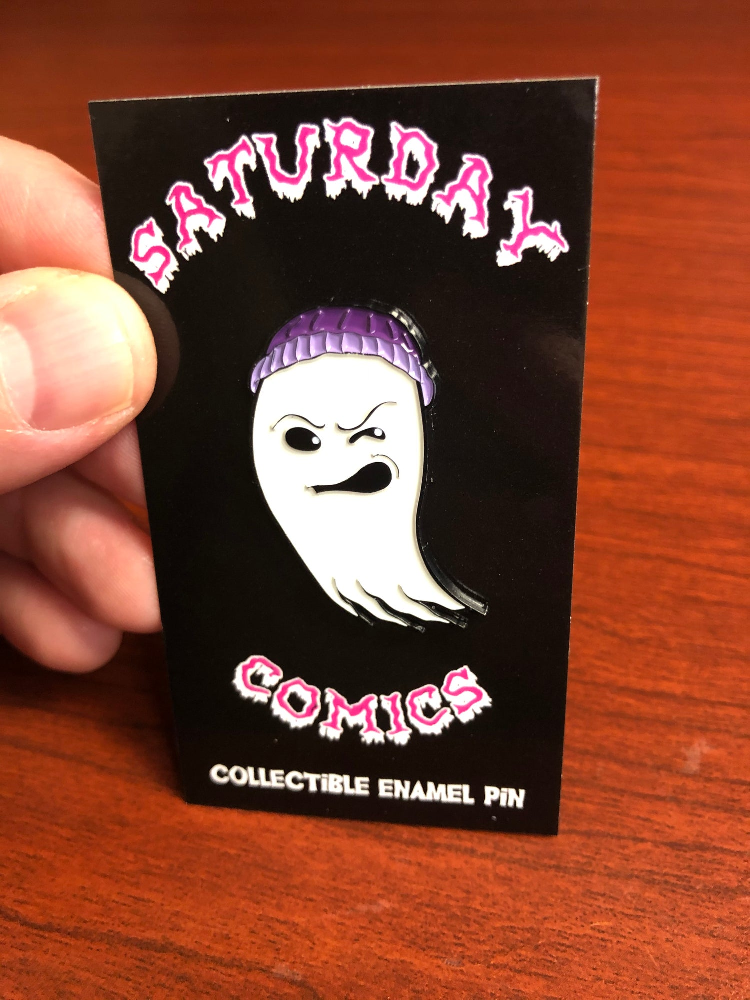 Image of Saturday Comics Enamel Pin