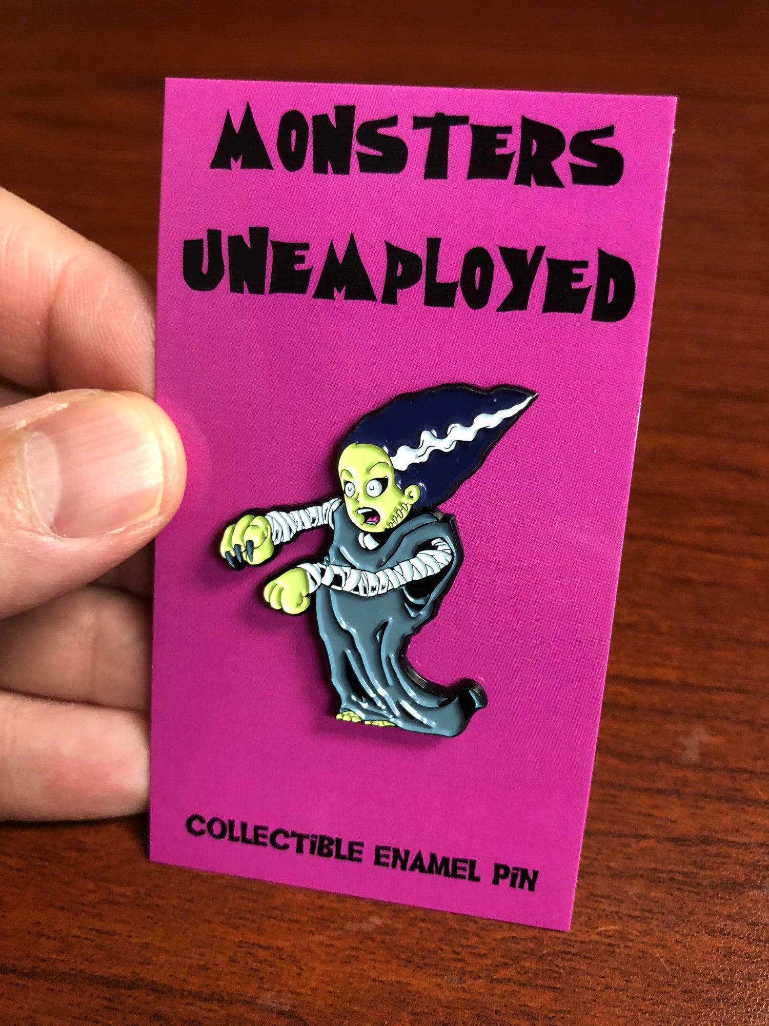 Image of Monsters Unemployed Enamel Pin #1: The Bride