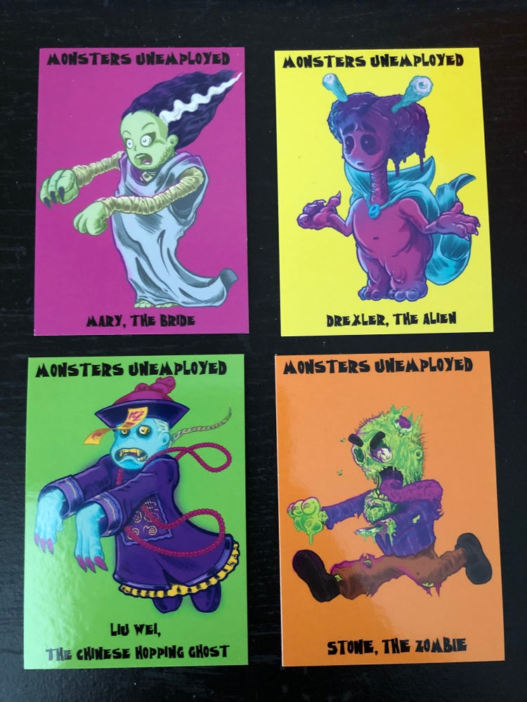 Image of Monsters Unemployed Trading Cards - Set of 4