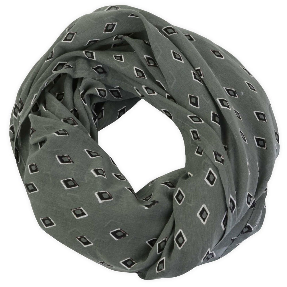 Image of Tiz Olive Block Printed Scarf