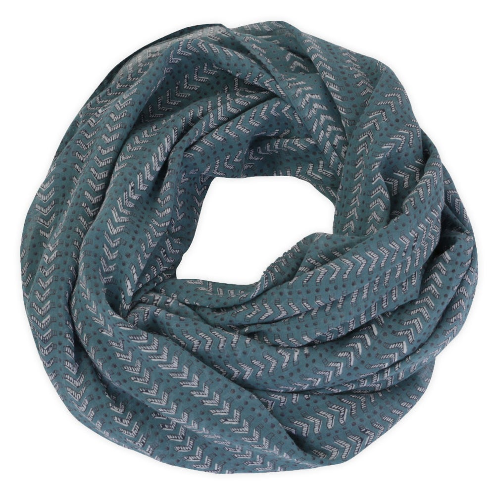 Image of Bath Teal Block Printed Scarf