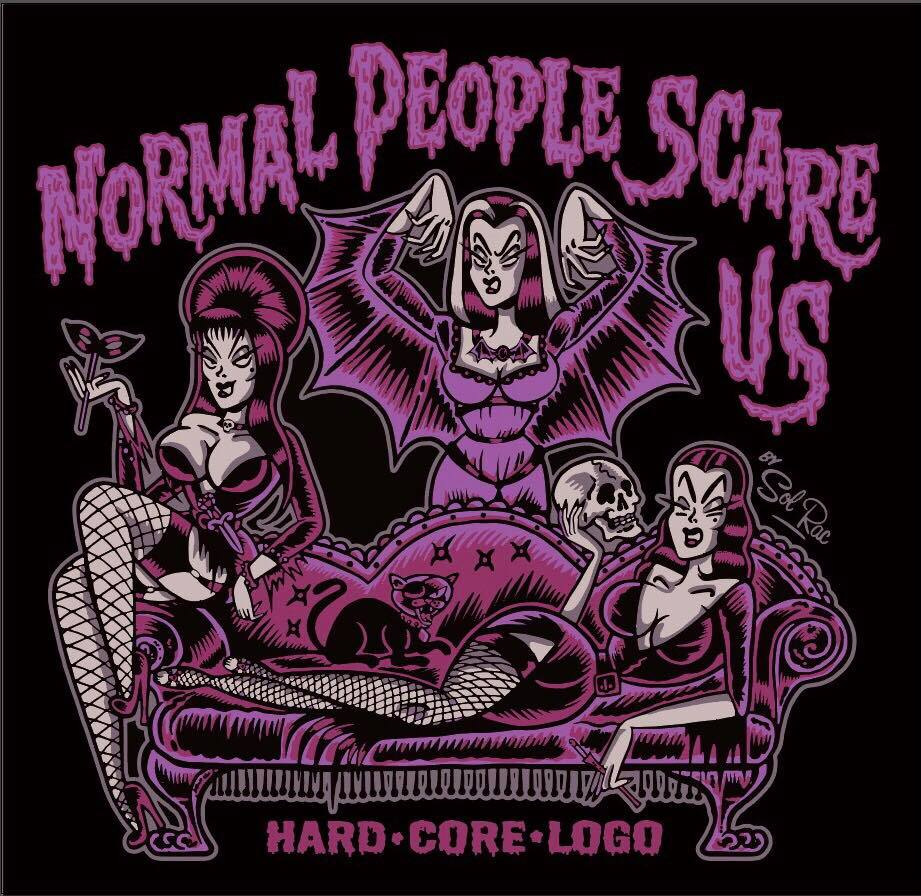 Image of Normal People Scare Us - Ladies T-Shirt