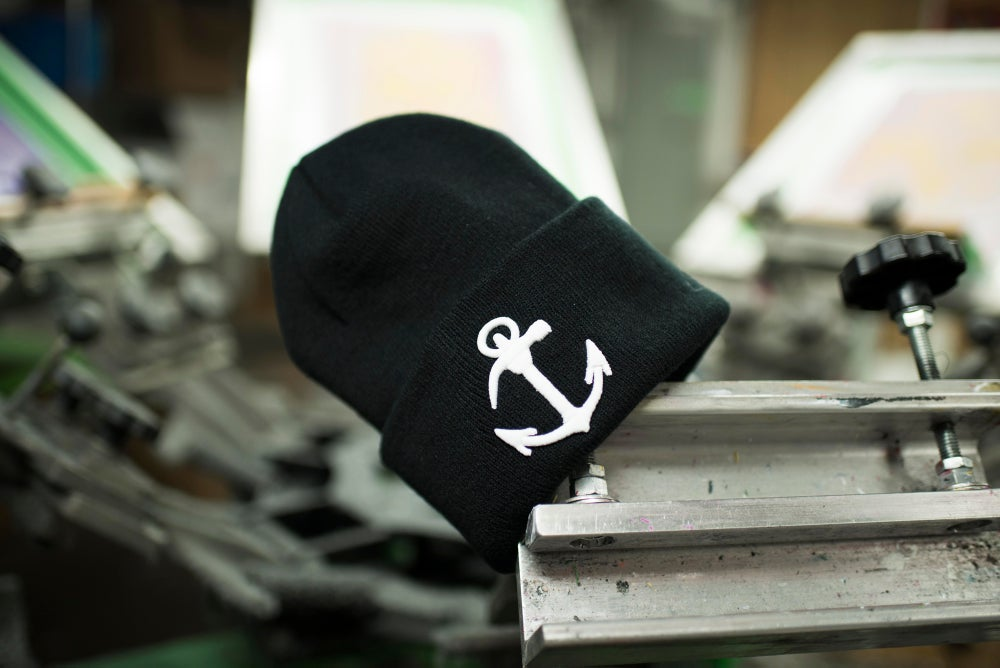 """Image of Made In Brooklyn """"The Original"""" Anchor Embroidered Beanie"""