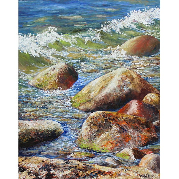 Image of - A Superior Shoreline - [ SOLD ]