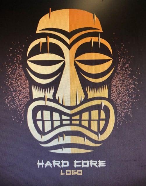 Image of Hard Core Tiki. Guys & Ladies T-Shirt