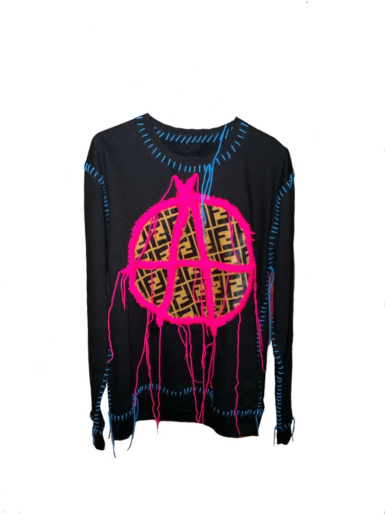 Image of ANARCHIST PINK FENDI JUMPER
