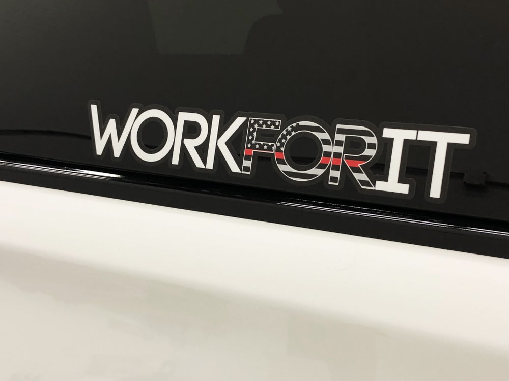 Image of THIN RED LINE WORKFORIT DECAL