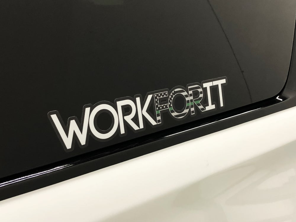 Image of THIN GREEN LINE WORKFORIT DECAL