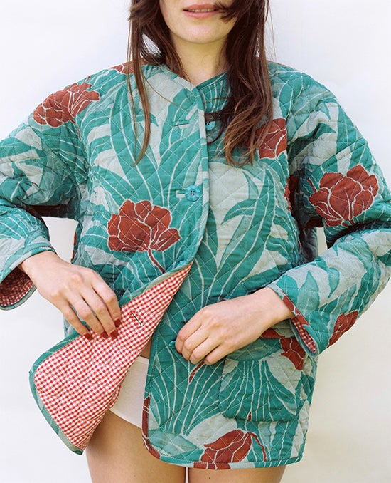 Image of Reversible Quilted Small Puff Jacket