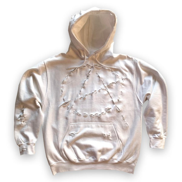 Image of DISTRESSED ANARCHY HOODIE