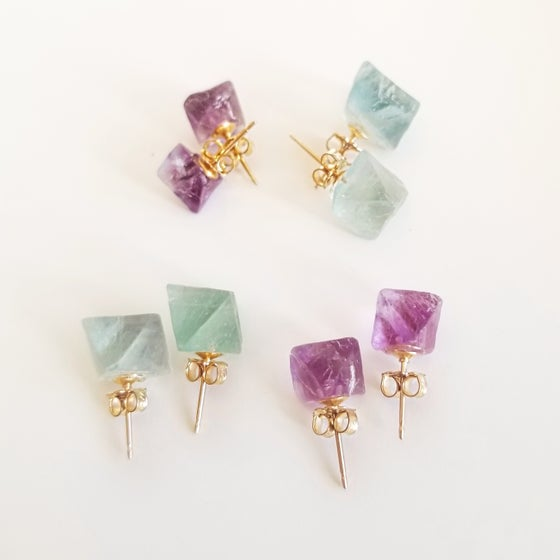 Image of Crystal Studs on 14-Karat Gold-Filled