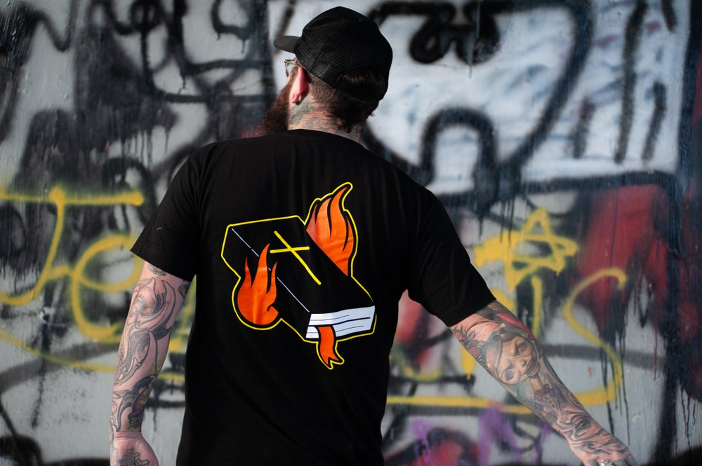 Image of Burning Bible T-Shirt