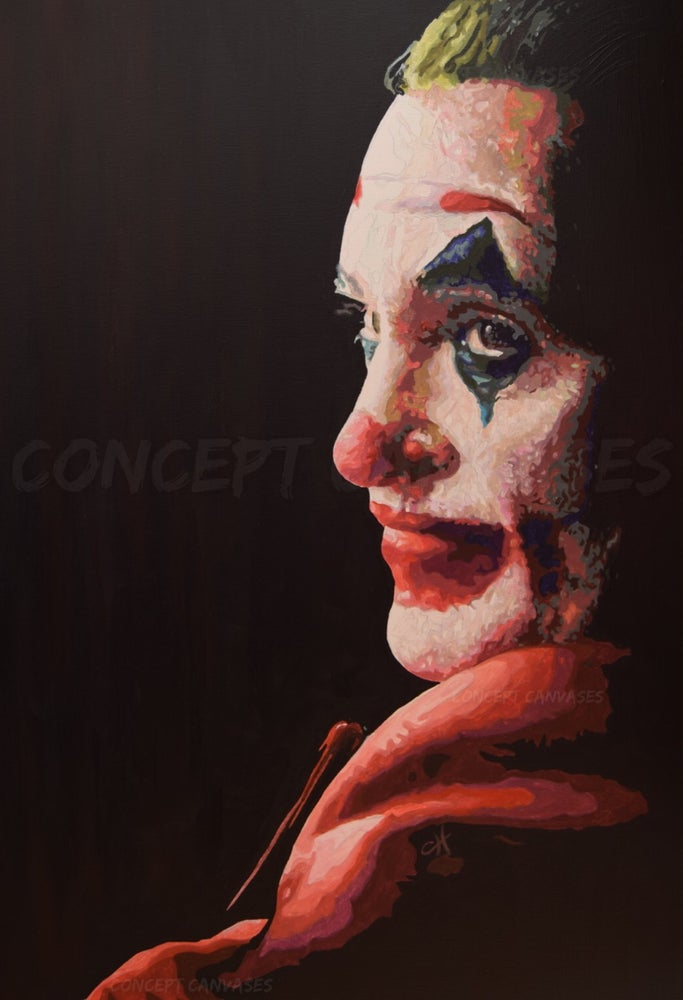 Image of Joker 'Making Cents Of It All' Hand Painted Original