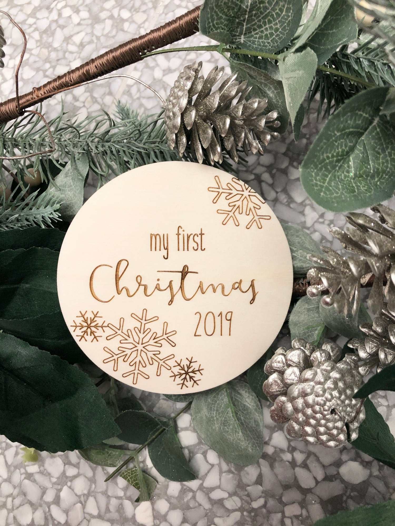 Image of Snowflake ❄️ My first Christmas plaque