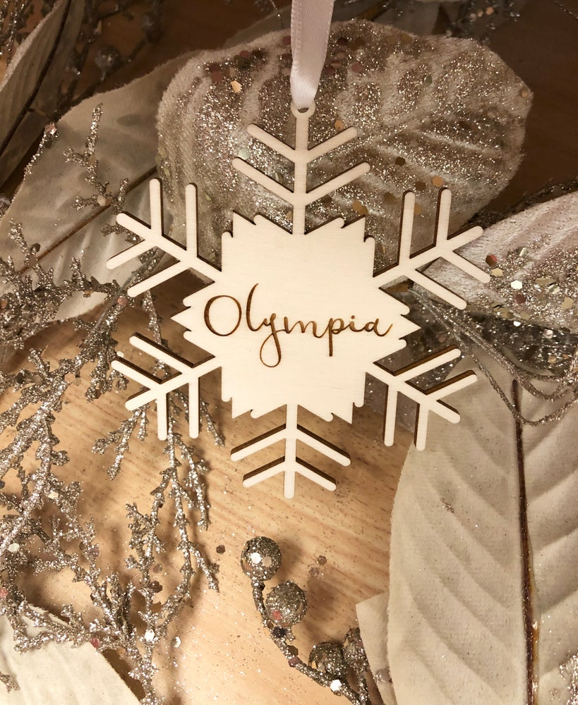 Image of Blizzard personalised Christmas bauble