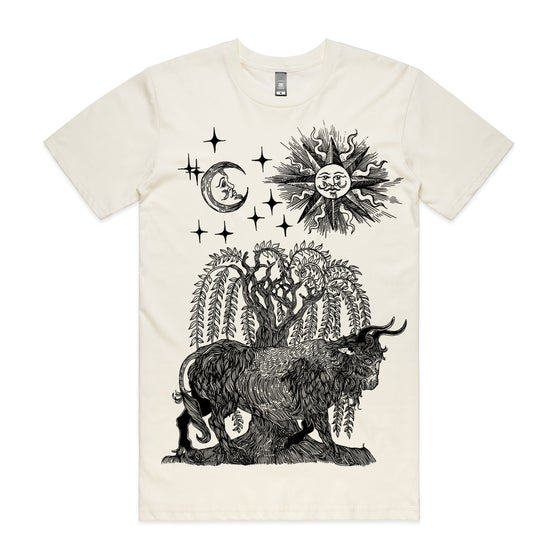 Image of The ox and the willow. Sun and the moon. T shirt