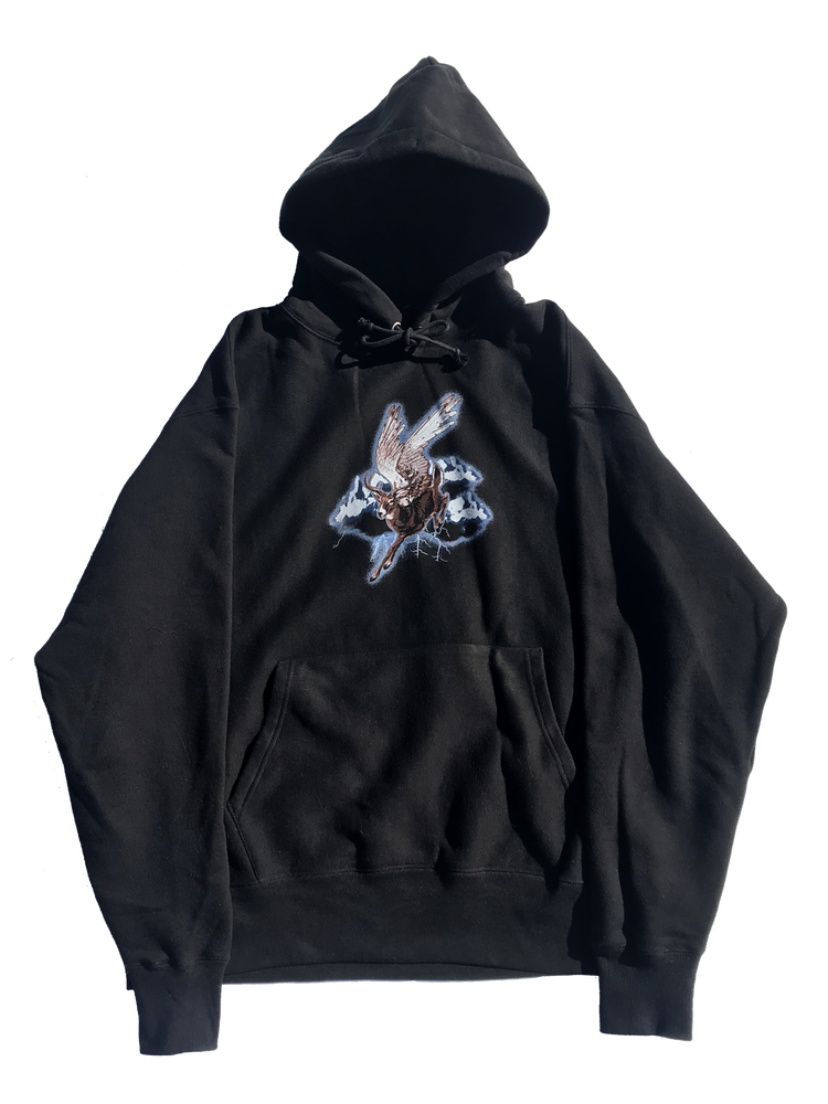 Image of **PRE-ORDER** STORM RIDER HOODED SWEATSHIRT (CHAMPION® REVERSE WEAVE) - BLACK