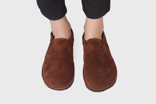 Image of Slip-On Sneakers in Spice Suede