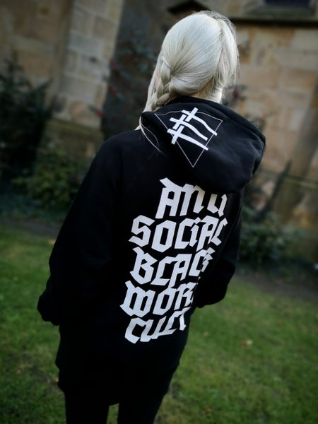 Image of Anti Social Blackwork Cvlt Fairtrade Hoodie