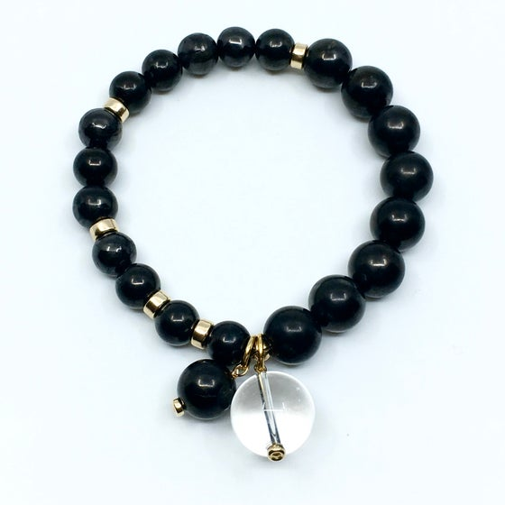Image of Grounded & Clear Wrist Mala Gold