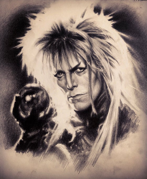 "Image of 'DAVID BOWIE / LABYRINTH' - 11 x 8.7"" - Miniature Open Edition Museum Archival Print"