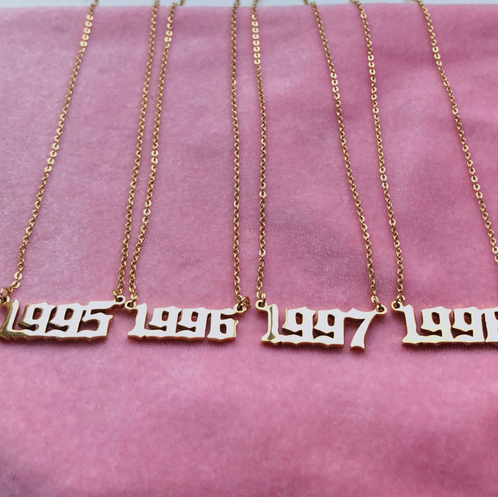 Image of Birth Year Necklaces