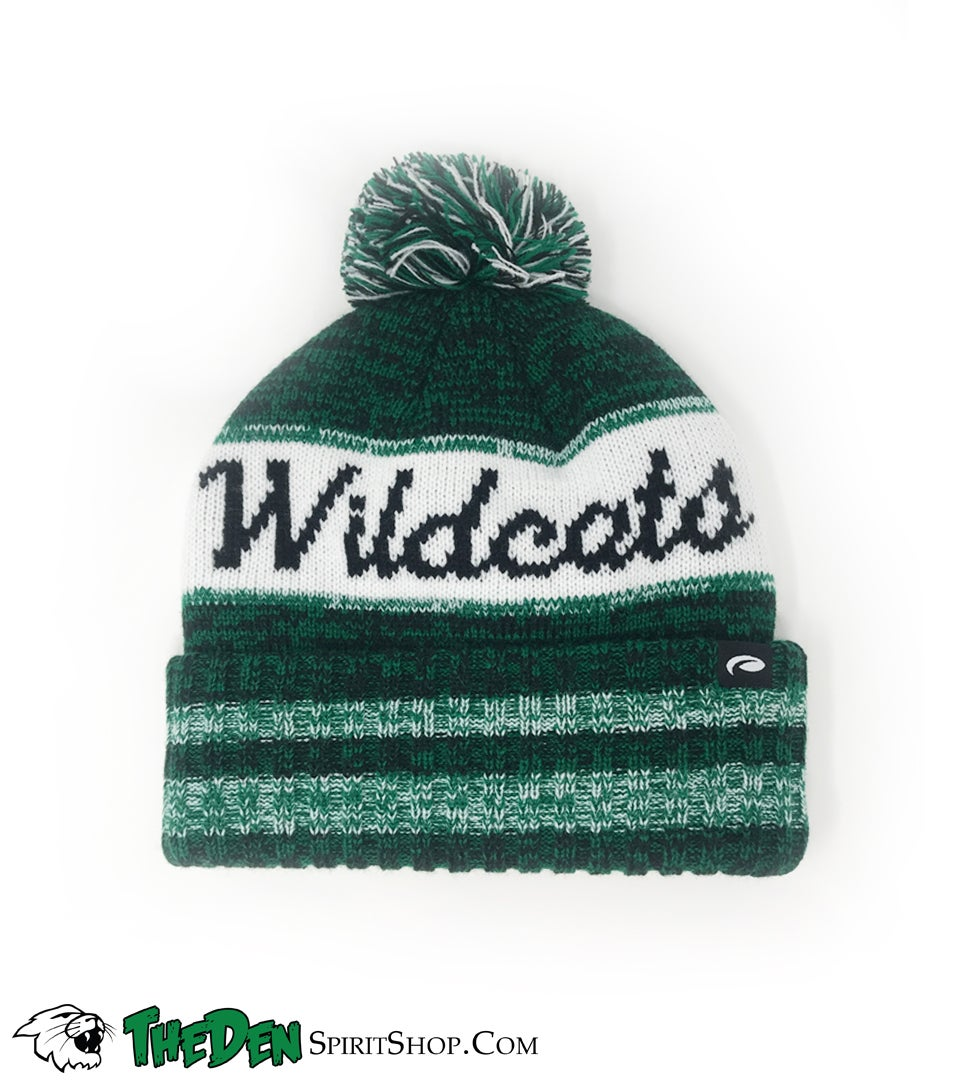 Image of Harrison Wildcats, Cuffed Beanie, White