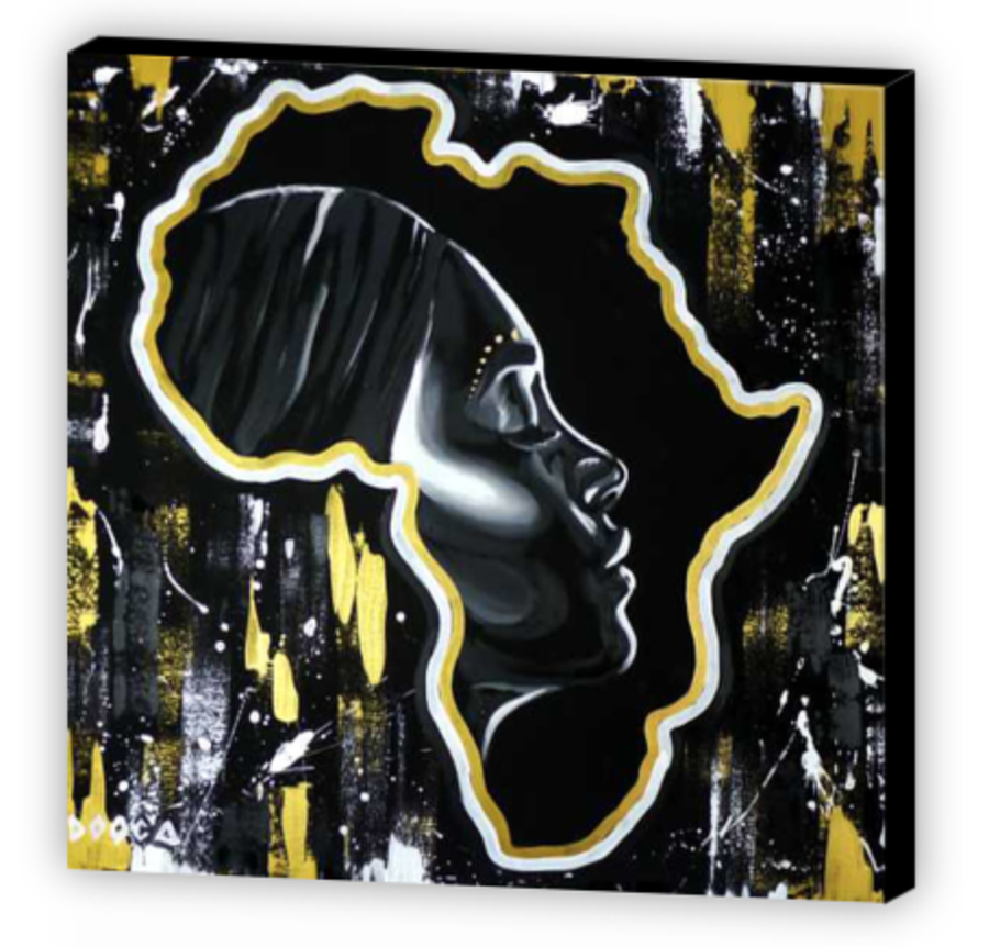 Image of Golden love - Canvas Print