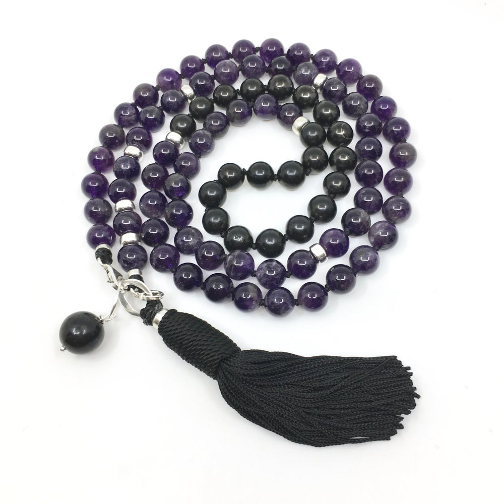 Image of New! Amethyst Double Infinity Mala 88