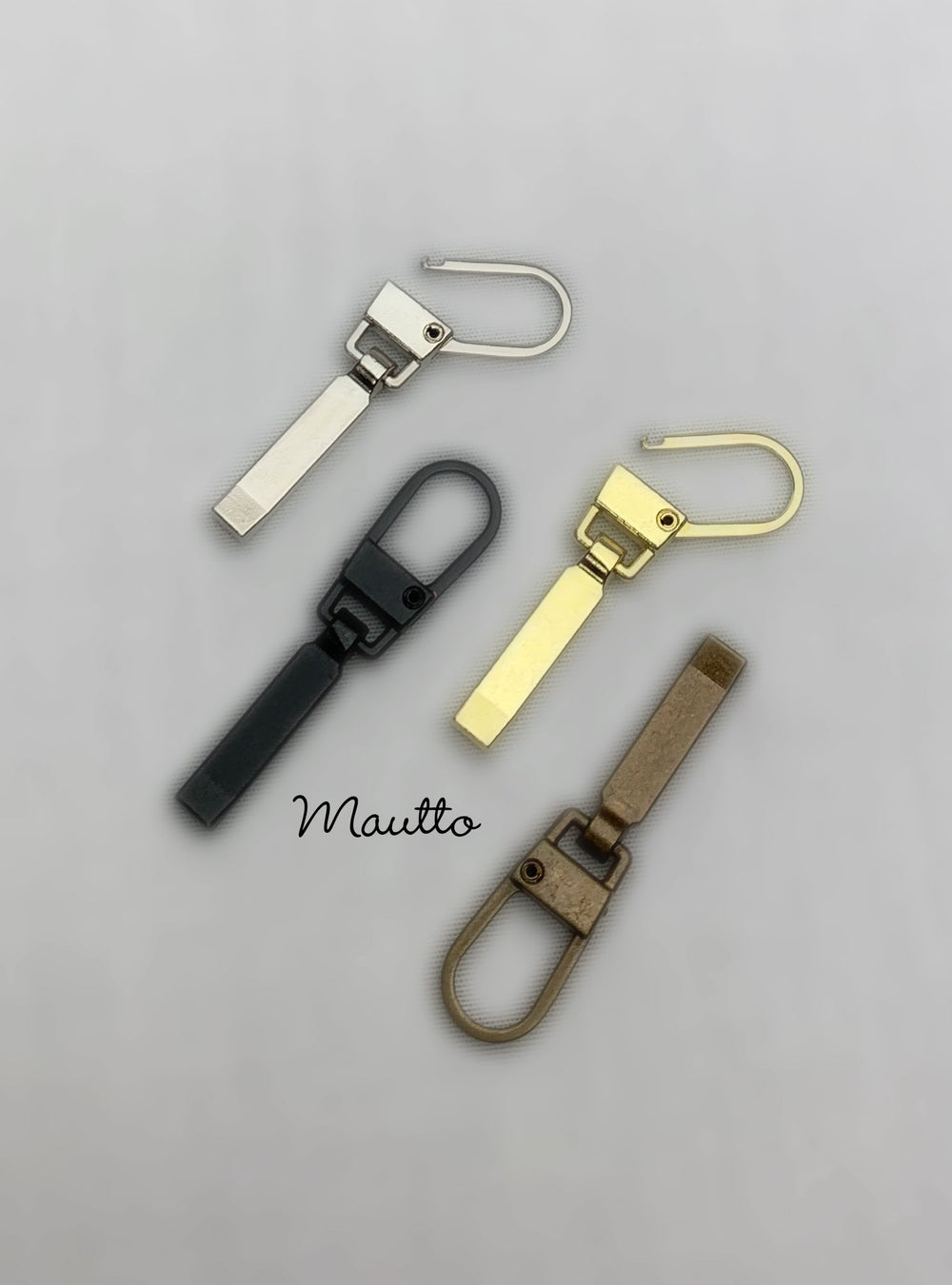 Image of Attachable Replacement Zipper Pulls - Gold, Nickel, Antique Brass, and Black finishes