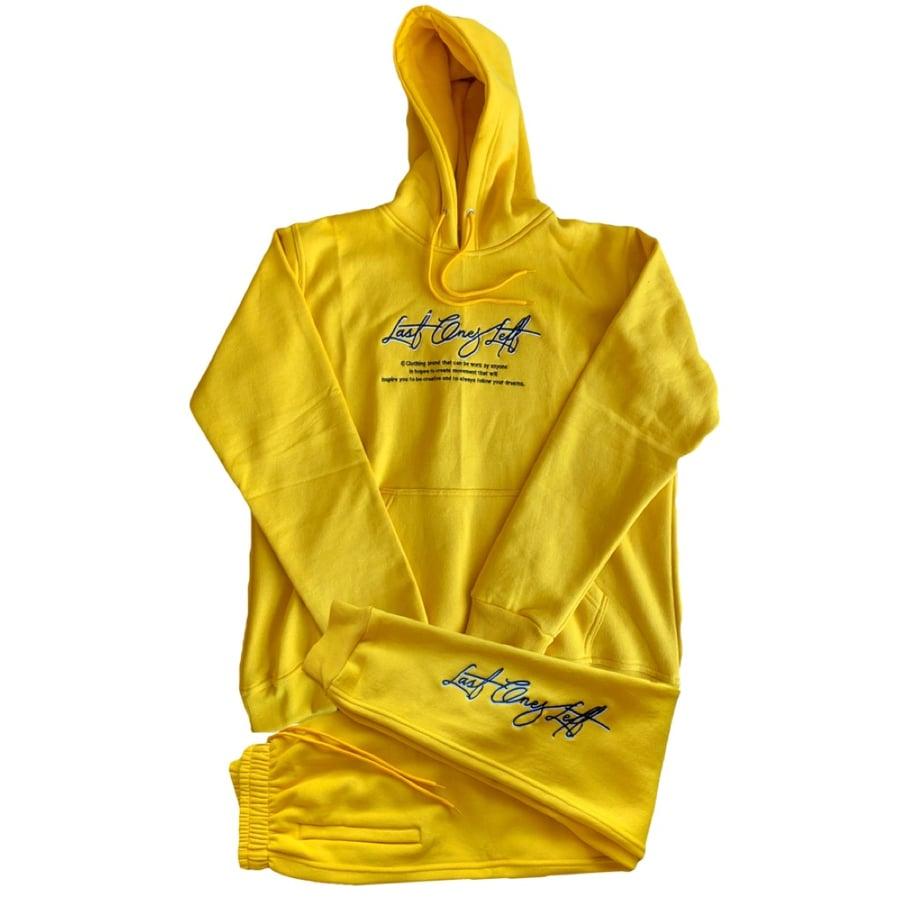 Image of Yellow Last Ones Left Sweatsuit Set