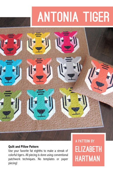 Image of ANTONIA TIGER pdf quilt pattern