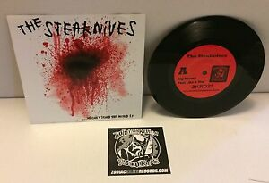 "Image of THE STEAKNIVES ""WE CAN'T STAND THIS WORLD"" 7"""