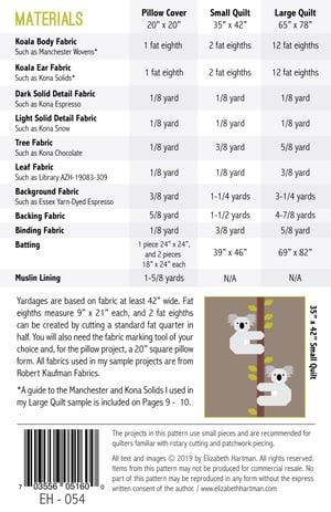 Image of KOALAS pdf quilt pattern