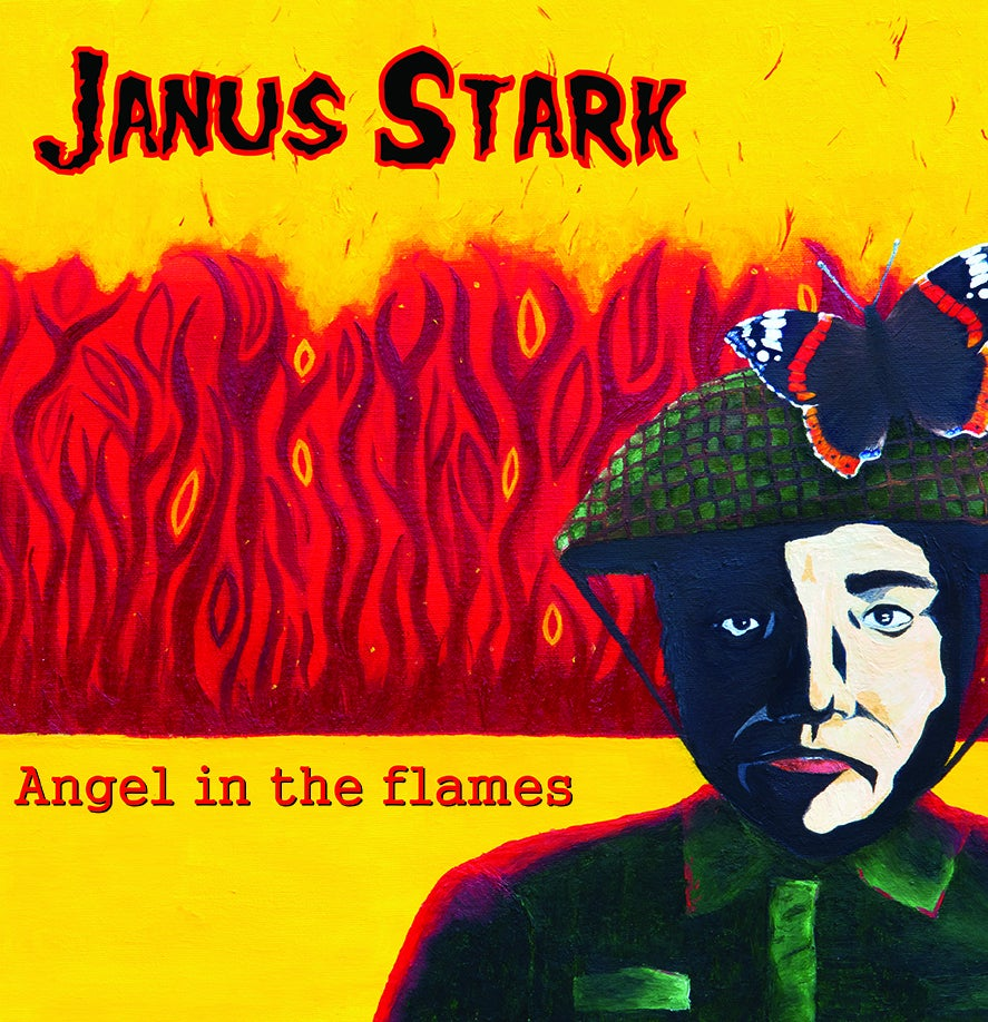 T&M 035 CD - Janus Stark - Angel In The Flames CD (GIZZ BUTT ex-Prodigy & Subs)