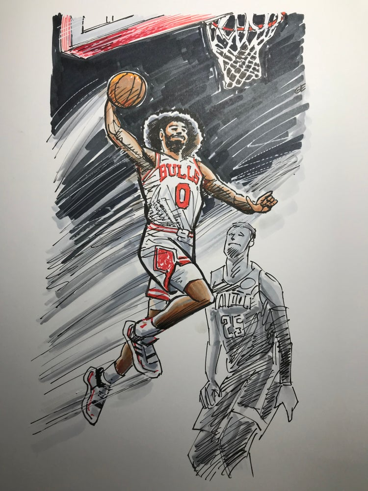 Image of Bulls Coby White dunk