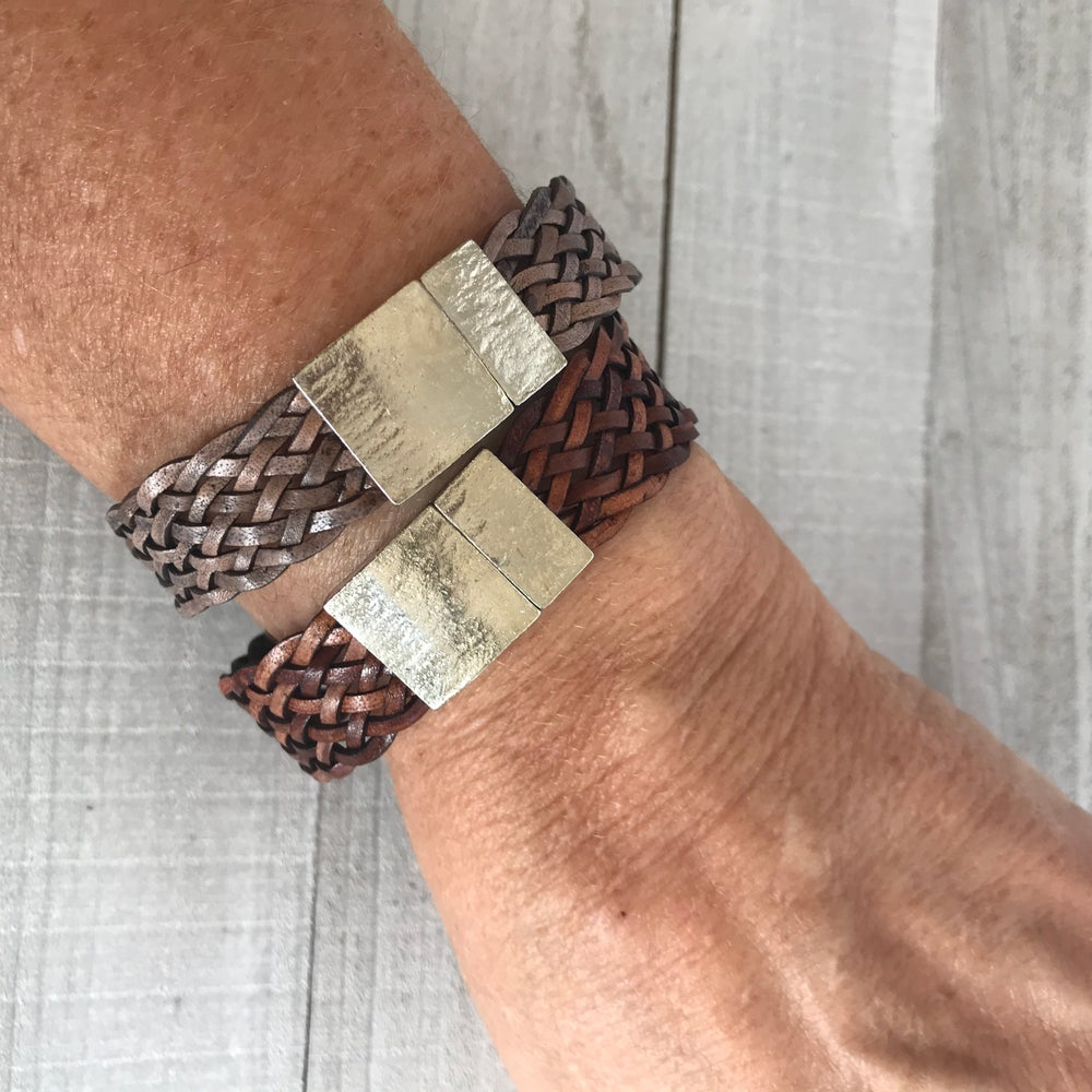 Image of Braided Leather Bracelet