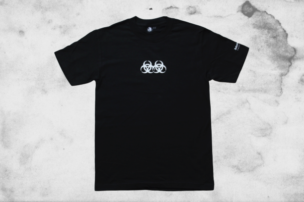 Image of Double Hazard Puff Print Tee (Black)