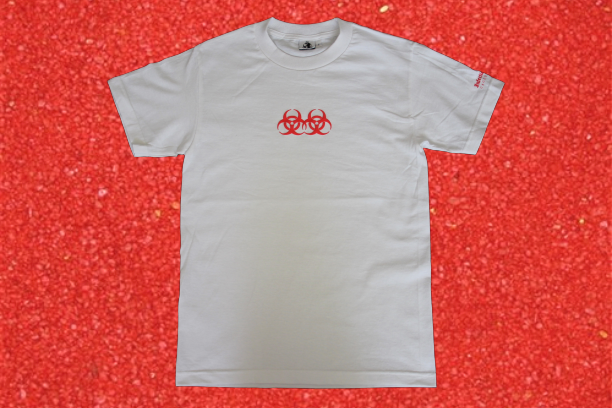 Image of Double Hazard Puff Print Tee (White)