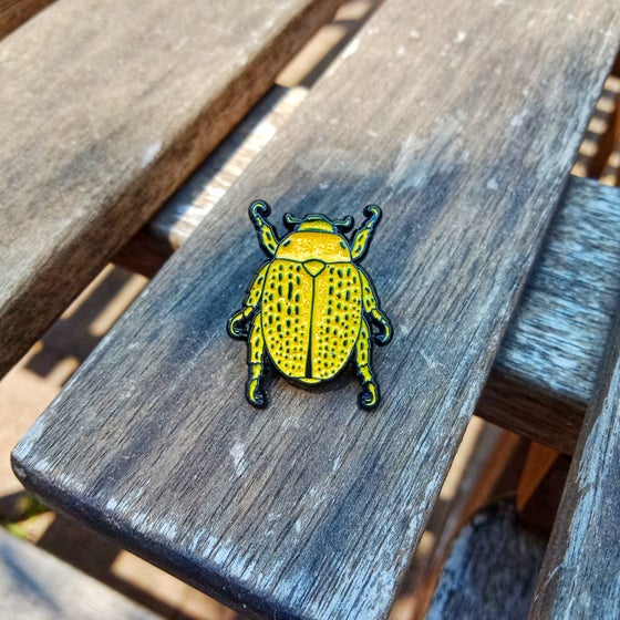 Image of Christmas Beetle Lapel Pin