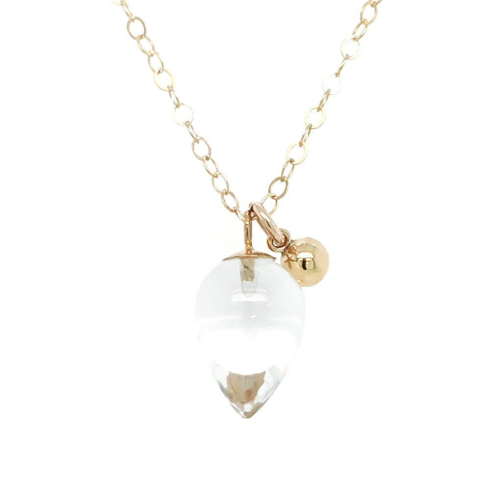 Image of Rock Crystal Quartz Acorn Necklace