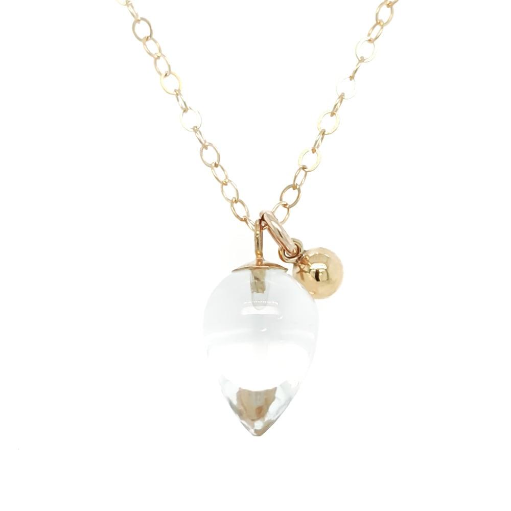 Image of Rock Crystal Quartz Acorn Necklace