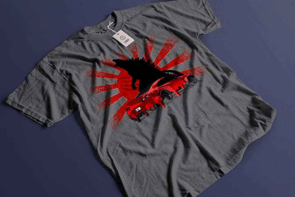 Image of R35 GTR Shirt - Paint Drip Godzilla