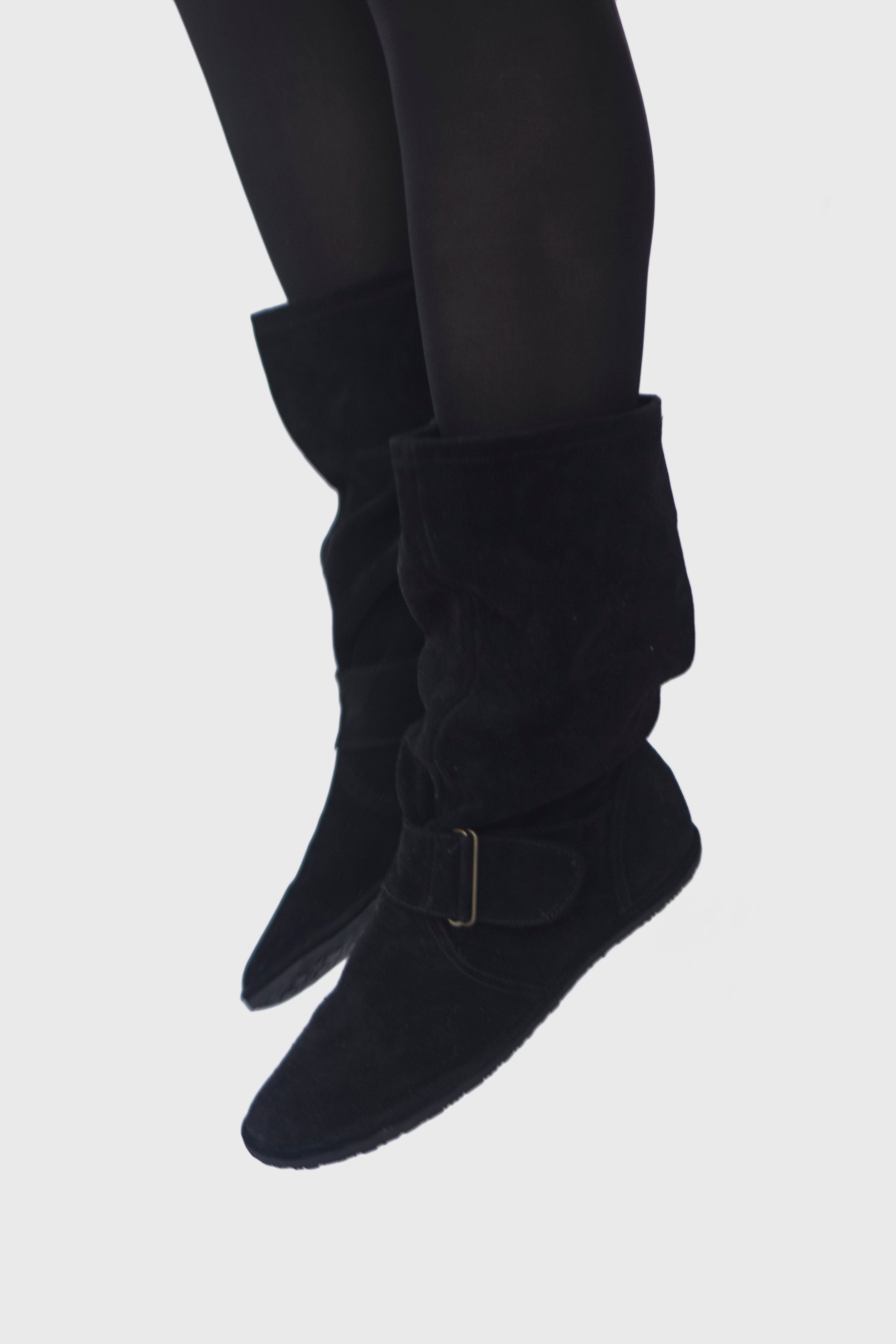 slouch boots suede