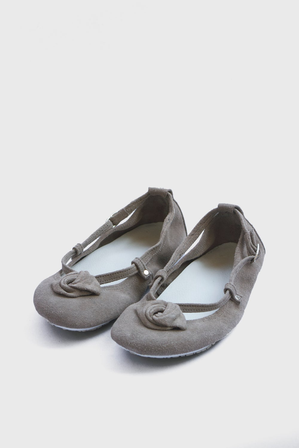 Image of Ballet Flats Foldable - Alert in Frost grey suede - 34 EU