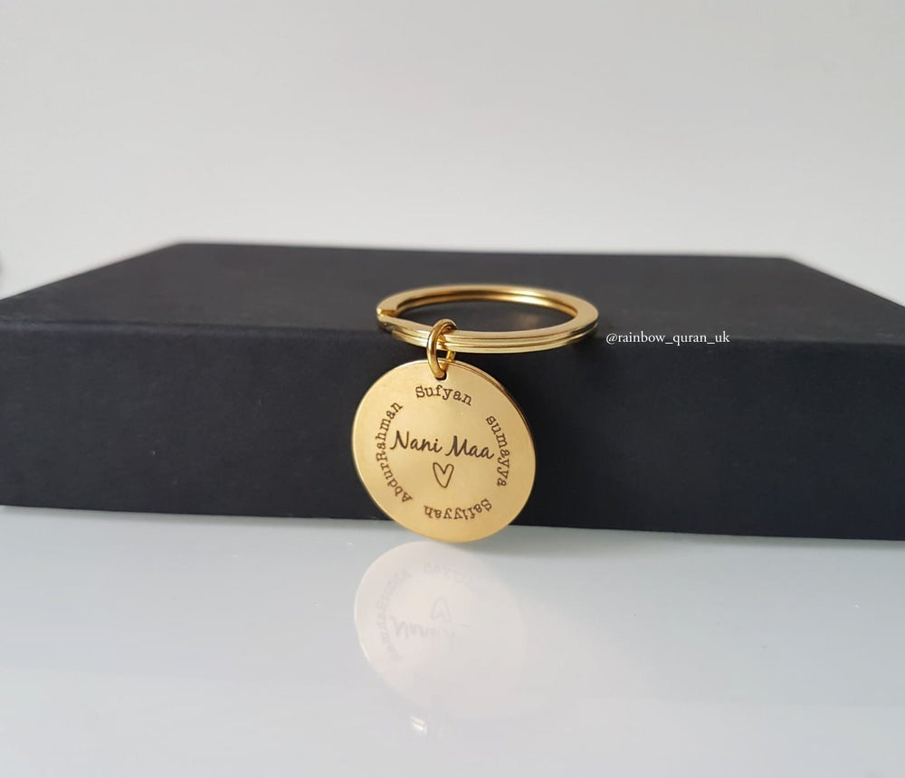 Image of Personalised Round Keyring