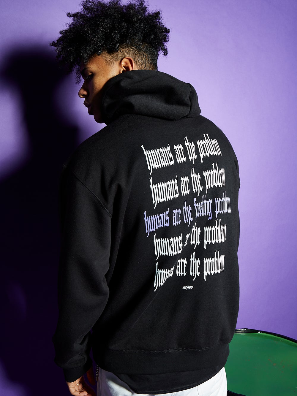 Image of HUMANS ARE THE PROBLEM HOODIE