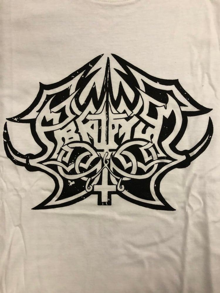Image of Abruptum - Logo White T-shirt